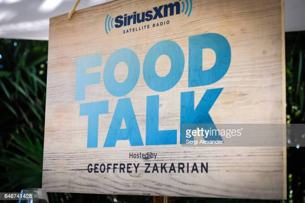 General view of atmosphere at SiriusXM's Food Talk with Geoffrey Zakarian at Miami Beach EDITION on February 24 2017 in Miami Florida