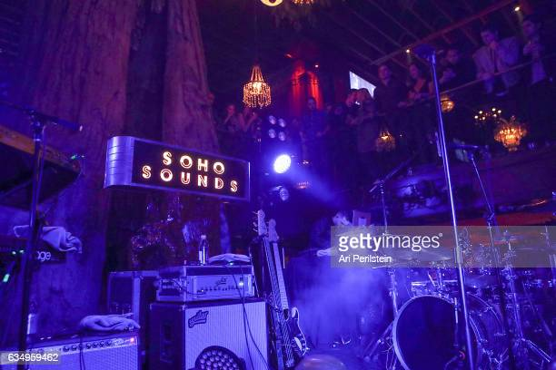 General view of atmosphere at Sounds LA hosted by Soho House with Samsung BMW of Beverly Hills Bacardi on February 11 2017 in Los Angeles...