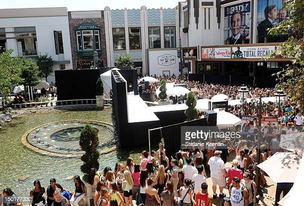 General view of atmosphere at TEEN VOGUE's BacktoSchool Saturday Event at The Grove on August 11 2012 in Los Angeles California