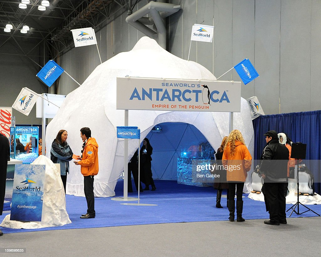 A general view of atmosphere at The 10th Annual New York Times Travel Show Ribbon Cutting And Preview at Javits Center on January 18, 2013 in New York City.
