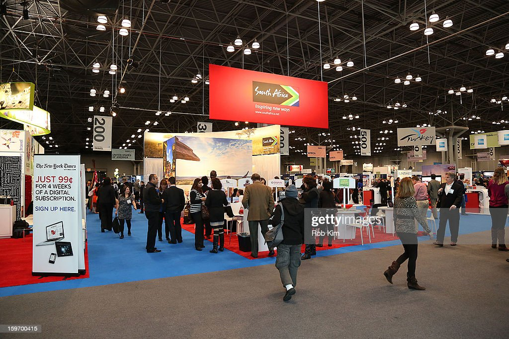 General view of atmosphere at The 10th Annual New York Times Travel Show Ribbon Cutting And Preview at Javits Center on January 18, 2013 in New York City.