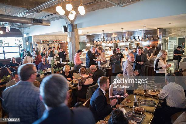 A general view of atmosphere at the 2015 James Beard Foundation Awards Welcome Reception Hosted At Soho House Chicago In Partnership With Choose...