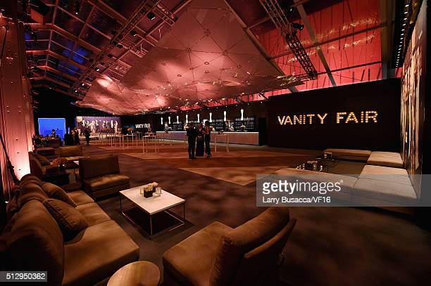 General view of atmosphere at the 2016 Vanity Fair Oscar Dinner Hosted By Graydon Carter at Wallis Annenberg Center for the Performing Arts on...