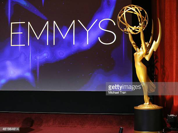 A general view of atmosphere at the 66th Primetime Emmy Awards nominations held at Leonard H Goldenson Theatre on July 10 2014 in North Hollywood...
