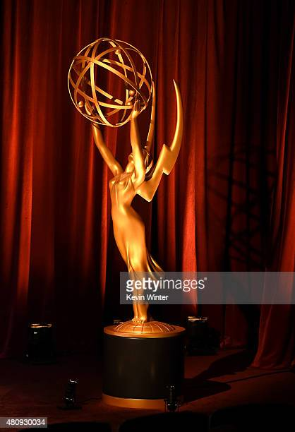 A general view of atmosphere at the 67th Primetime Emmy Awards nominations at SilverScreen Theater at the Pacific Design Center on July 16 2015 in...