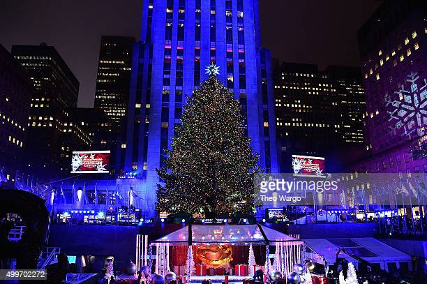 A general view of atmosphere at the 83rd Rockefeller Center Tree Lighting on December 2 2015 in New York City
