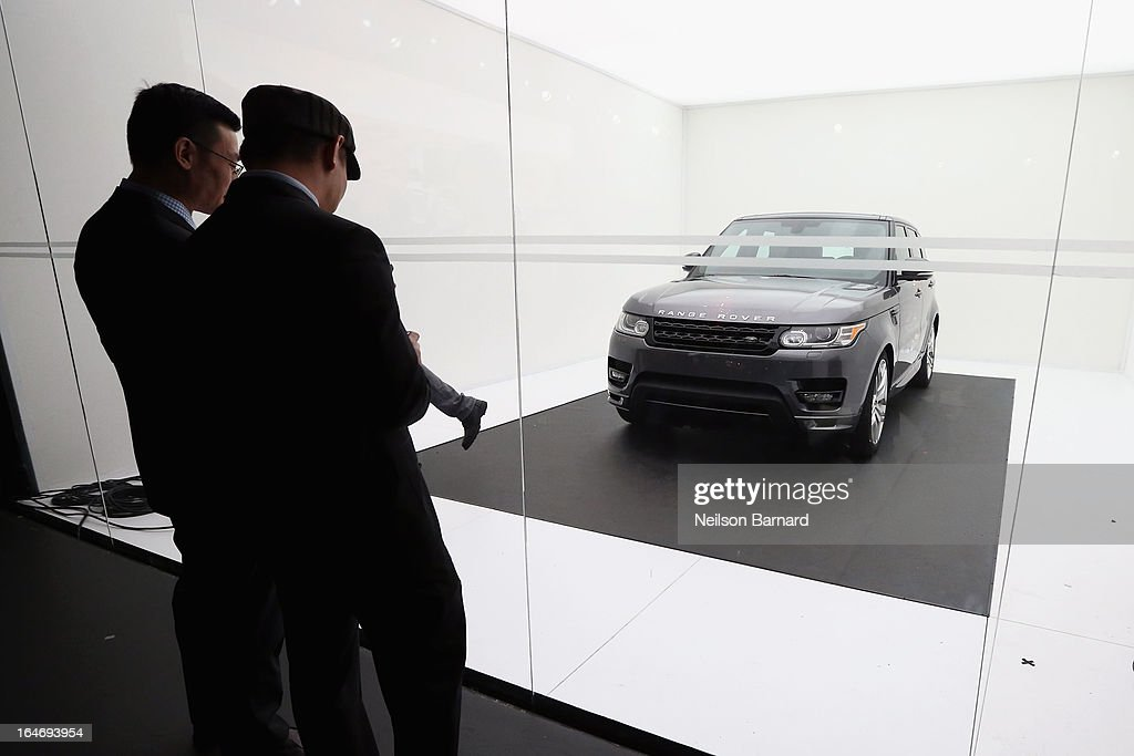 A general view of atmosphere at the all-new Range Rover Sport reveal on March 26, 2013 in New York City.