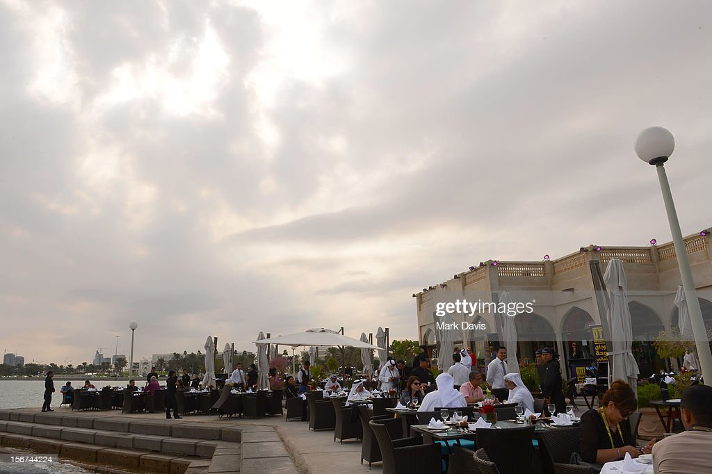 A general view of atmosphere at the Arab Guests Lunch during the 2012 Doha Tribeca Film Festival at the Al Mourjan Restaurant on November 20, 2012 in Doha, Qatar.