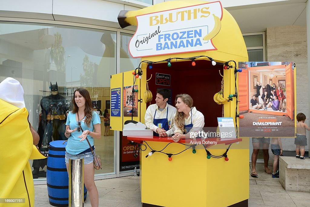 A general view of atmosphere at the 'Arrested Development' Bluth's Original Frozen Banana Stand Third Los Angeles Location at The Paley Center for Media on May 22, 2013 in Beverly Hills, California.
