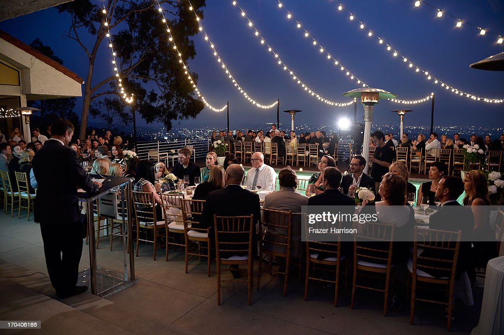 A general view of atmosphere at the Australians In Film and Heath Ledger Scholarship Host 5th Anniversary Benefit Dinner on June 12 2013 in Los...