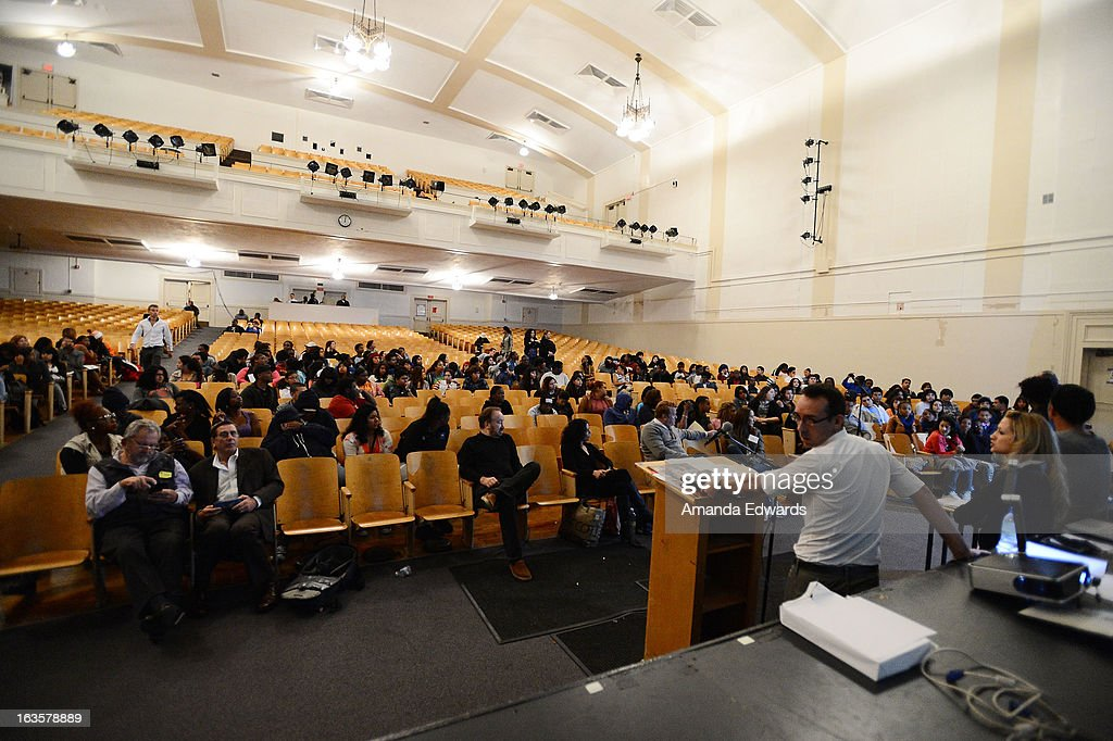 A general view of atmosphere at the BAFTA LA Reality TV Master Class led by Rob Bagshaw at George Washington Preparatory High School on March 12, 2013 in Los Angeles, California.
