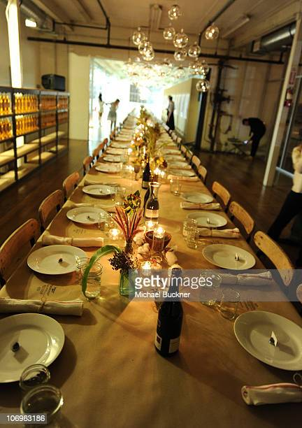 A general view of atmosphere at the 'Band of Outsiders' dinner party hosted by Dewars at the Band of Outsiders Loft on November 18 2010 in Beverly...