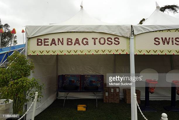 A general view of atmosphere at the Bean Bag Toss during the 22nd Annual Time for Heroes Celebrity Picnic sponsored by Disney to benefit the...