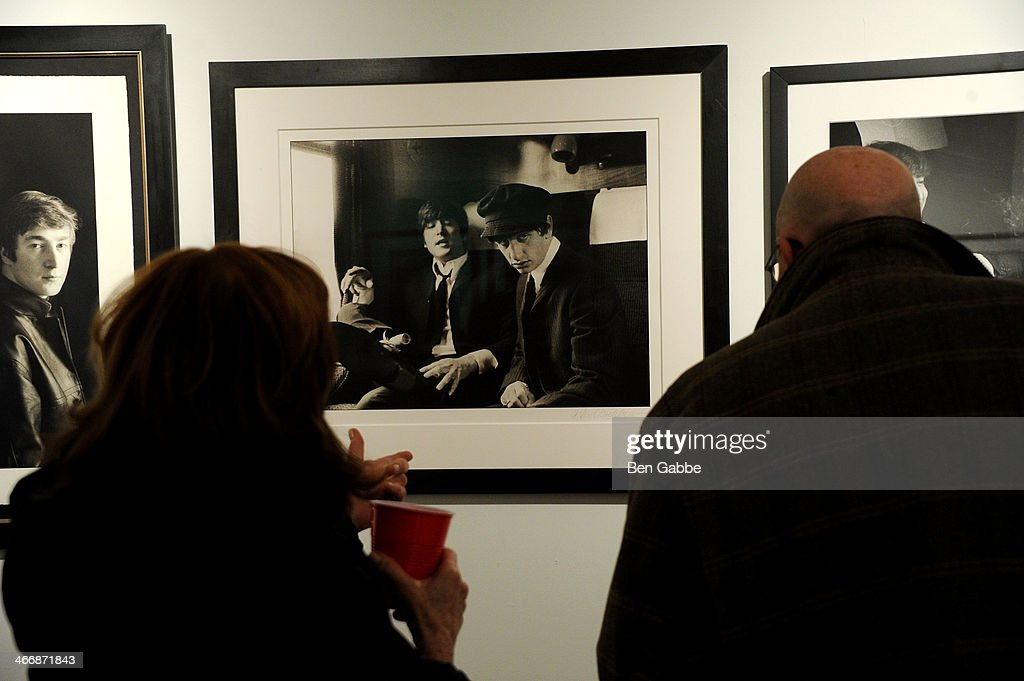 A general view of atmosphere at The Beatles 50 Year Commemorative Anniversary photo exhibit at Rock Paper Photo NYC Pop Up Gallery on February 4, 2014 in New York City.