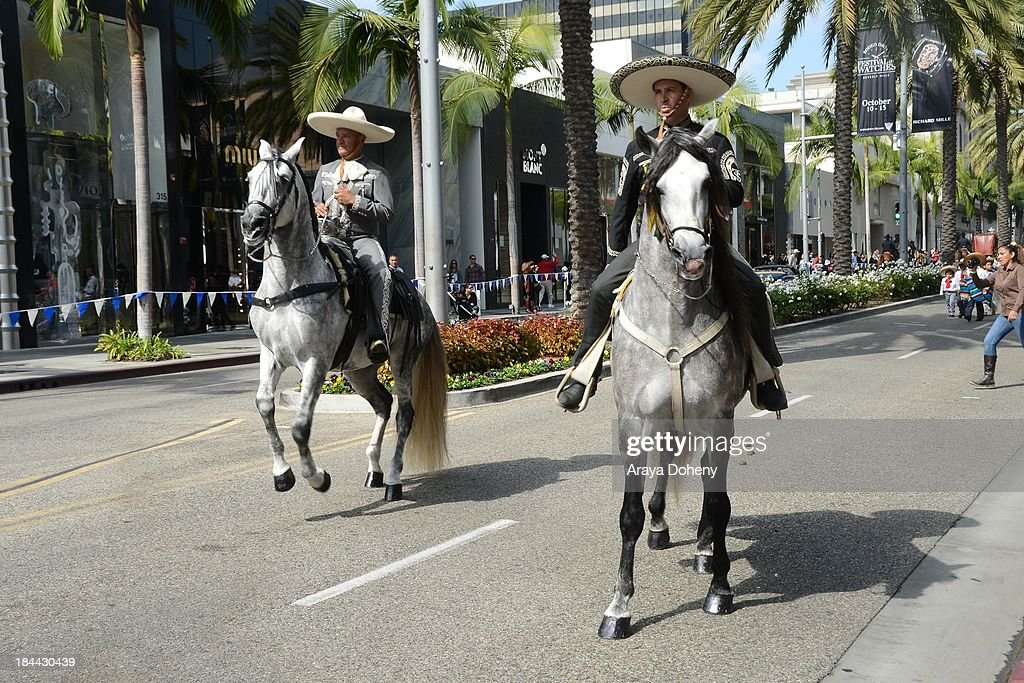 A general view of atmosphere at the Beverly Hills centennial kick-off party for Rodeo De Los Caballos Equestrian Parade on October 13, 2013 in Beverly Hills, California.
