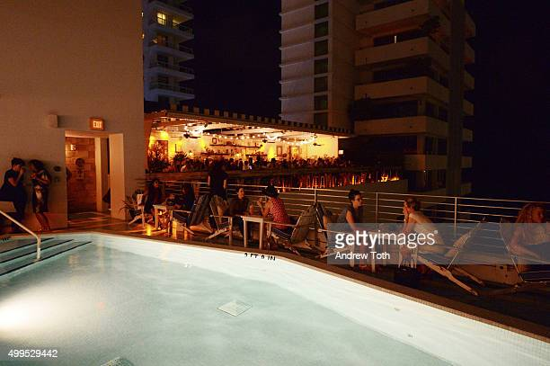 A general view of atmosphere at the BMW i Soho House Artist Talk at Soho Beach House on December 1 2015 in Miami Beach Florida