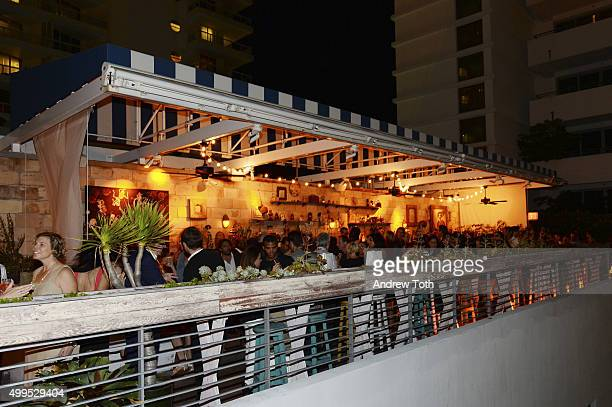 A general view of atmosphere at the BMW i Soho House Artist Talk with Samson Young Lawrence Weschler at Soho Beach House on December 1 2015 in Miami...
