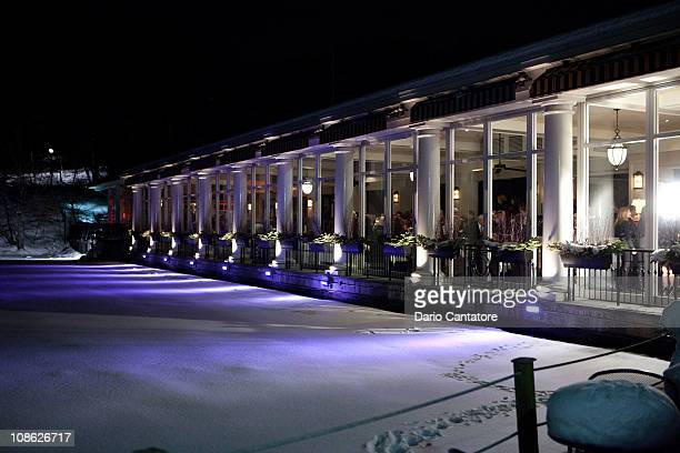 A general view of atmosphere at the Boat House in Central Park during the Design Industries Foundation Fights AIDS benefit at the Loeb Central Park...