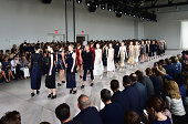 A general view of atmosphere at the Calvin Klein Collection fashion show during MercedesBenz Fashion Week Spring 2015 at Spring Studios on September...