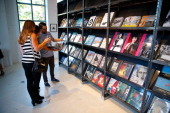 A general view of atmosphere at the Culver City Artist Tour Party at Arcana Books on the Arts on June 21 2014 in Culver City California