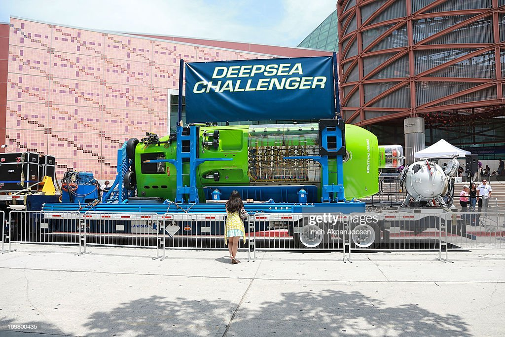 A general view of atmosphere at the Deepsea Challenger photocall at California Science Center on June 1, 2013 in Los Angeles, California.