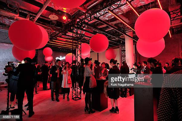 A general view of atmosphere at the Delvaux Red Moon Party at Delvaux Omotesando on November 7 2014 in Tokyo Japan