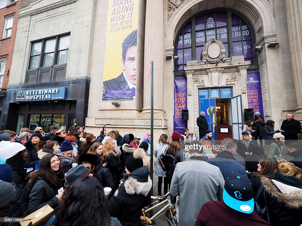 General view of atmosphere at The Derek Zoolander Center For People Who Don't Age Good Opening on February 9, 2016 in New York City.
