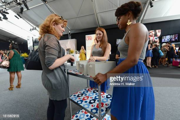 A general view of atmosphere at the Diet Pepsi display during Spring 2013 MercedesBenz Fashion Week at Lincoln Center for the Performing Arts on...