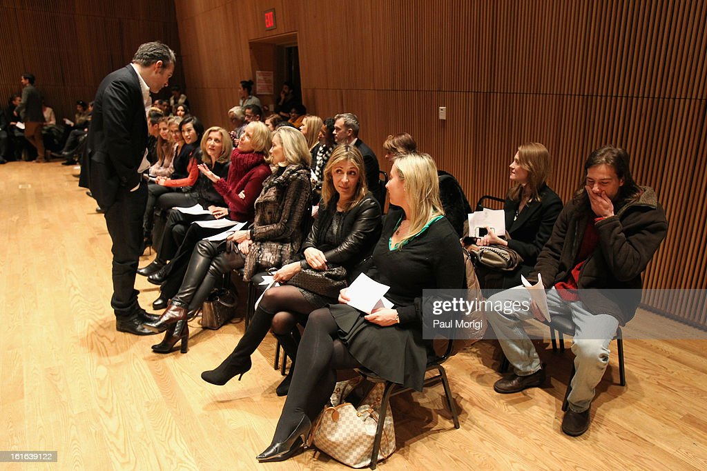 A general view of atmosphere at the Douglas Hannant Fall 2013 Collection during Mercedes-Benz Fashion Week at Dimenna Center for Classical Music on February 13, 2013 in New York City.