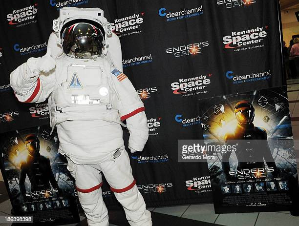 A general view of atmosphere at the 'Ender's Game' special screening hosted by Kennedy Space Center and Clear Channel at Regal Winter Park on October...
