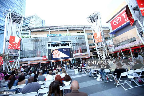 A general view of atmosphere at the Film Independent's PreFestival outdoor screening of 'Clueless' held at LA LIVE on May 6 2014 in Los Angeles...