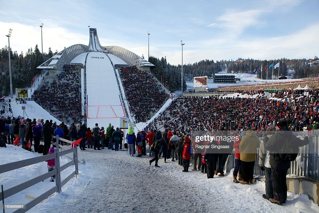 . A general view of atmosphere at the FIS World Cup Nordic Holmenkollen 2013 on March 17, 2013 in Oslo, Norway.