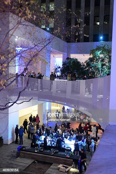 General view of atmosphere at the Hammer Museum's Provocations Presented In Partnership With Burberry Members' Opening on February 19 2015 in Los...