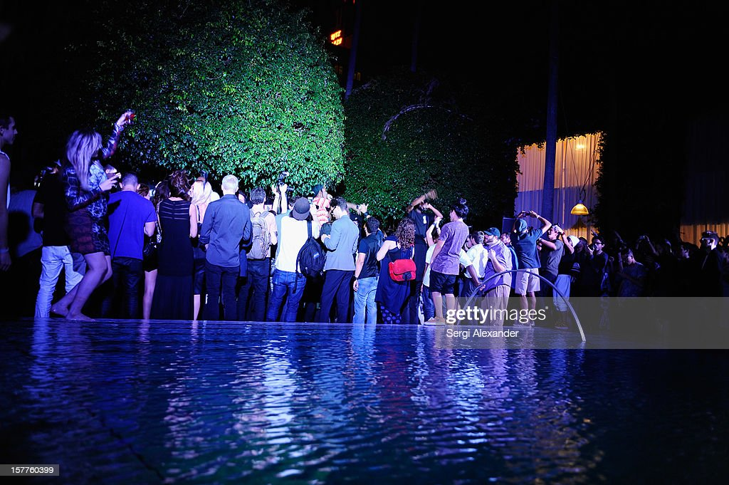 A general view of atmosphere at The Hole Gallery concert sponsored by Playboy and hosted by Delano at Delano Hotel on December 5, 2012 in Miami, Florida.