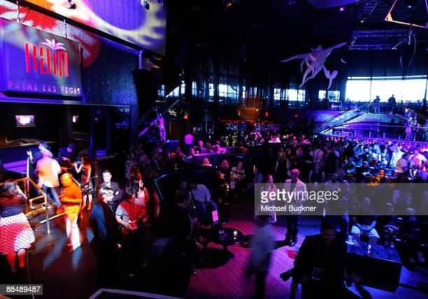 A general view of atmosphere at the honoree awards ceremony reception during the 11th annual CineVegas film festival held at Rain Nightclub inside...