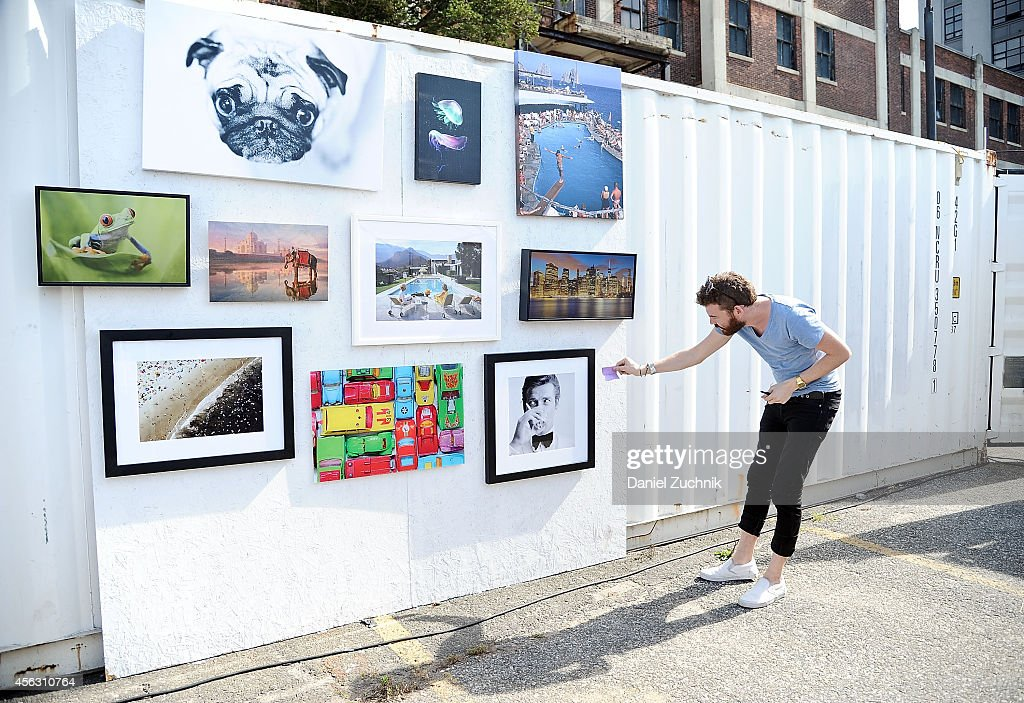 A general view of atmosphere at the Interior Decorating with Photography Workshop during Photoville at Brooklyn Bridge Park on September 28 2014 in...