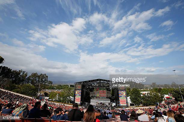 A general view of atmosphere at the KROQ Weenie Roast Y Fiesta at Irvine Meadows Amphitheatre on May 16 2015 in Irvine California