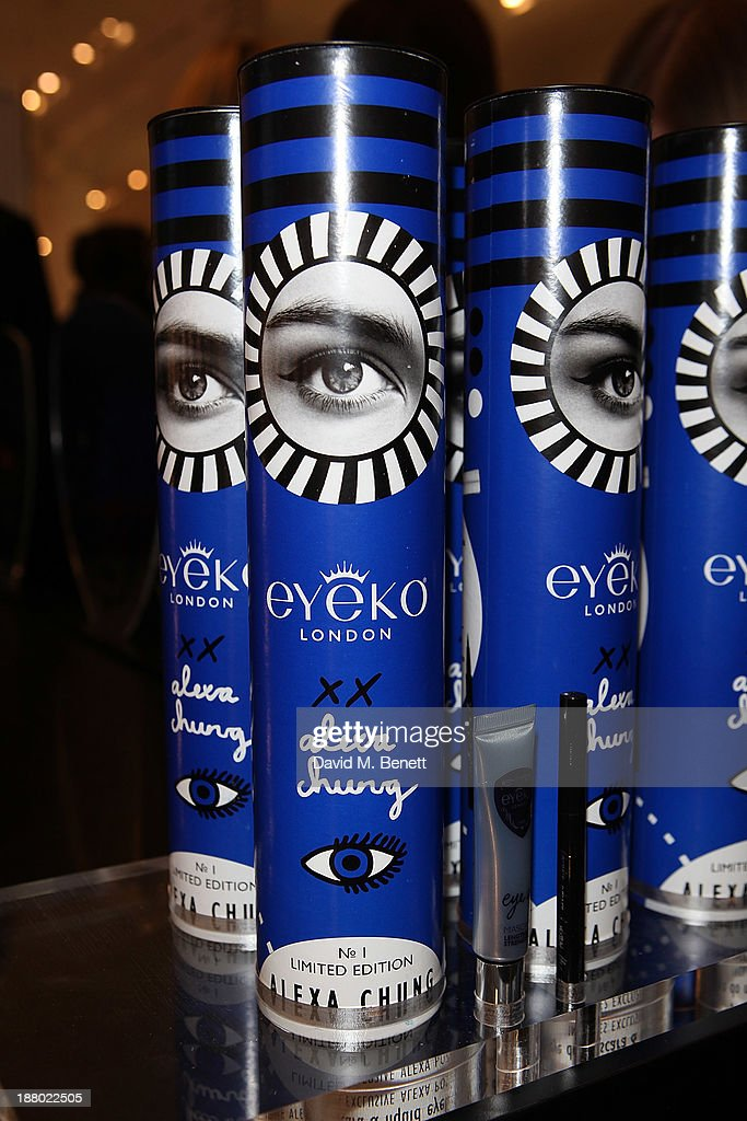 A general view of atmosphere at The launch of Alexa Chung's new eyeliner and mascara set for Eyeko at Selfridges on November 14, 2013 in London, England.