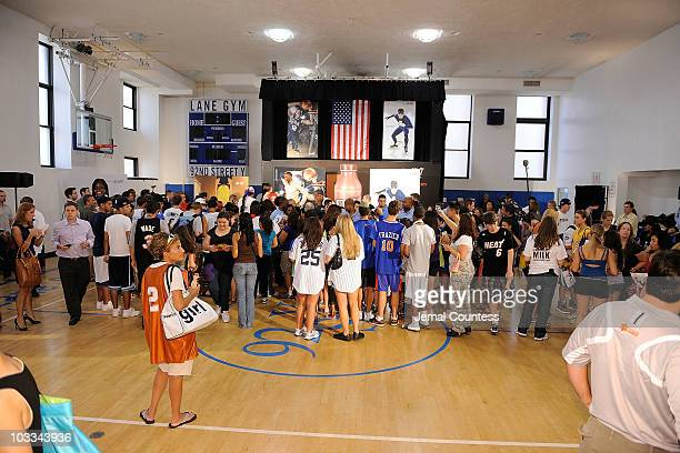 A general view of atmosphere at the launch of the Refuel America Program and unveiling of the newest Milk Mustache ads at the 92nd Street Y on August...