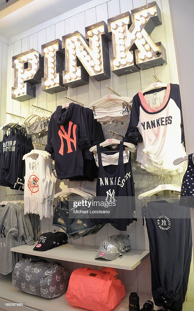 A general view of atmosphere at the launch of the Victoria's Secret PINK MLB Collection at Victoria Secret Soho on April 2, 2013 in New York City.