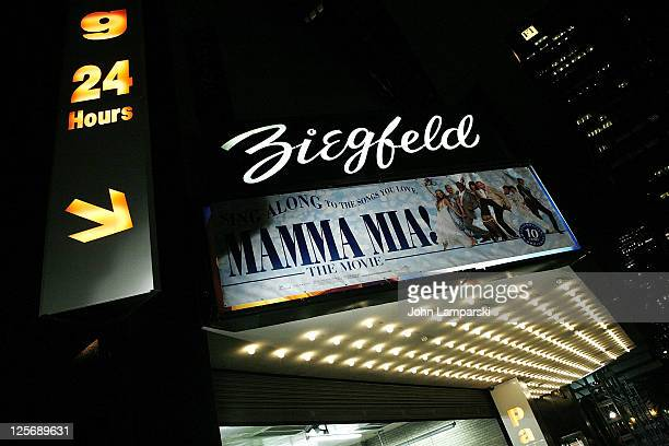 A general view of atmosphere at the 'Mamma Mia The Movie' singalong>> at Ziegfeld Theatre on September 20 2011 in New York City