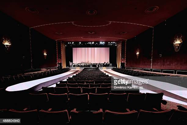 A general view of atmosphere at the Marc Jacobs Spring 2016 fashion show during New York Fashion Week at Ziegfeld Theater on September 17 2015 in New...