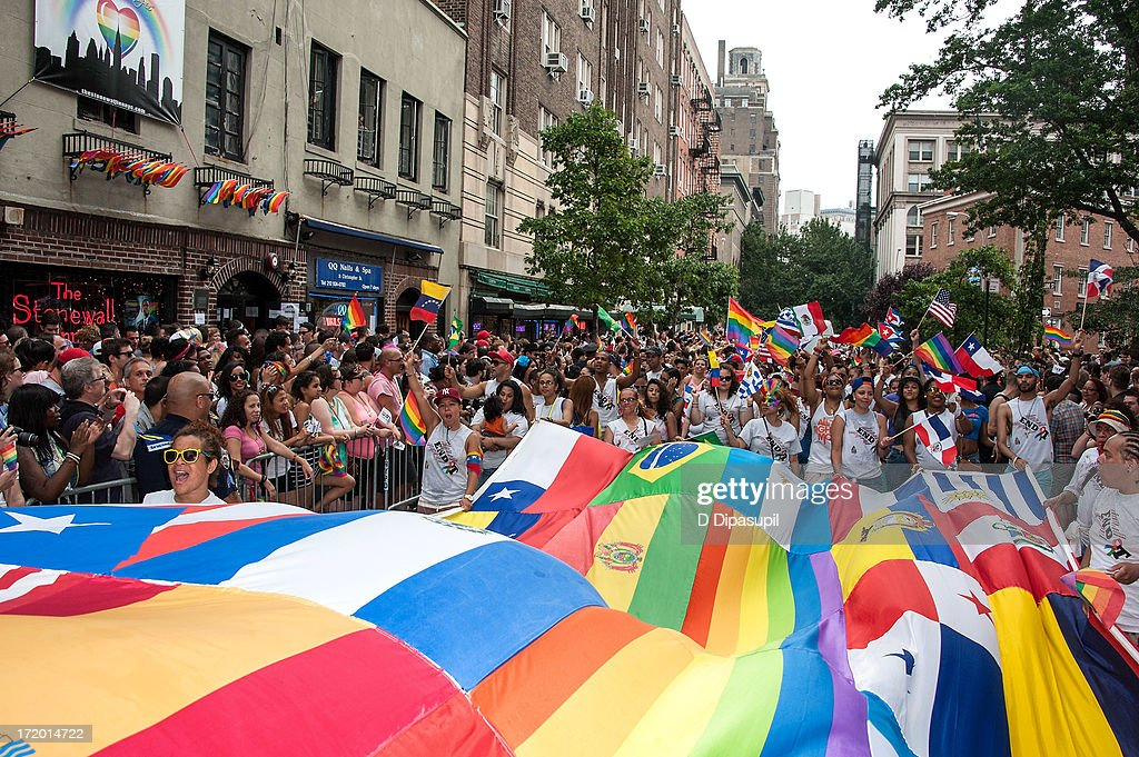 A general view of atmosphere at The March during NYC Pride 2013 on June 30, 2013 in New York City.