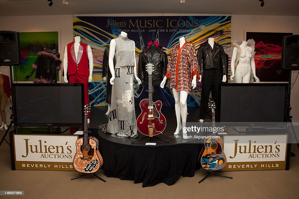 A general view of atmosphere at the Music Icons And Sports Legends Memorabilia Auction Press Call at Julien's Auctions Gallery on June 18, 2012 in Beverly Hills, California.