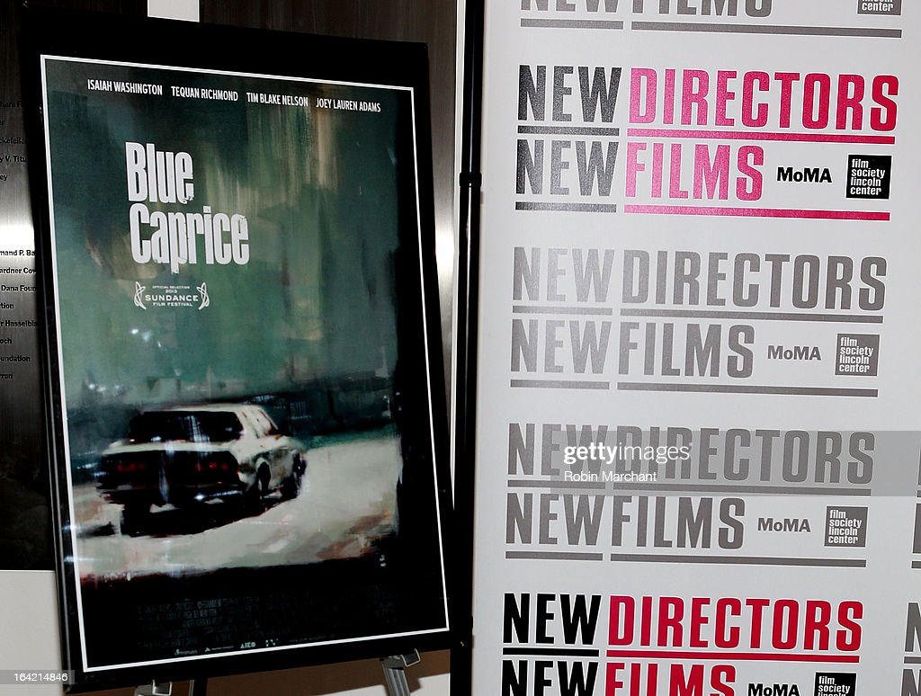 General view of atmosphere at the New Directors/New Films 2013 Opening Night screening of 'Blue Caprice' at the Museum of Modern Art on March 20, 2013 in New York City.