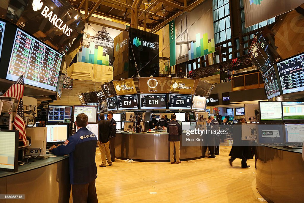 A general view of atmosphere at the New York Stock Exchange on January 4, 2013 in New York City.