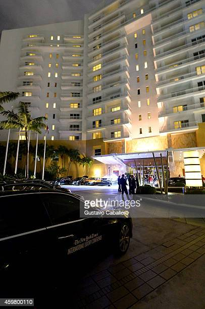 A general view of atmosphere at The New York Times International Luxury Conference at Mandarin Oriental on December 1 2014 in Miami Florida