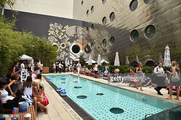 A general view of atmosphere at the NyMag The Cut and Chandon Pop Off Summer Pool Party at Dream Downtown Hotel on August 5 2015 in New York City