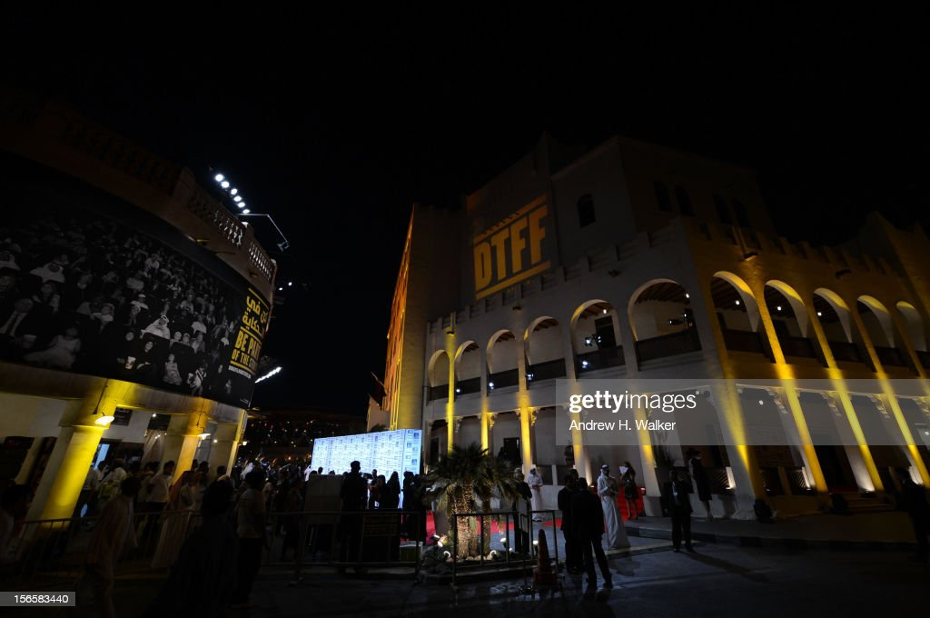 A general view of atmosphere at the opening night ceremony and gala screening of 'The Reluctant Fundamentalist' during the 2012 Doha Tribeca Film...