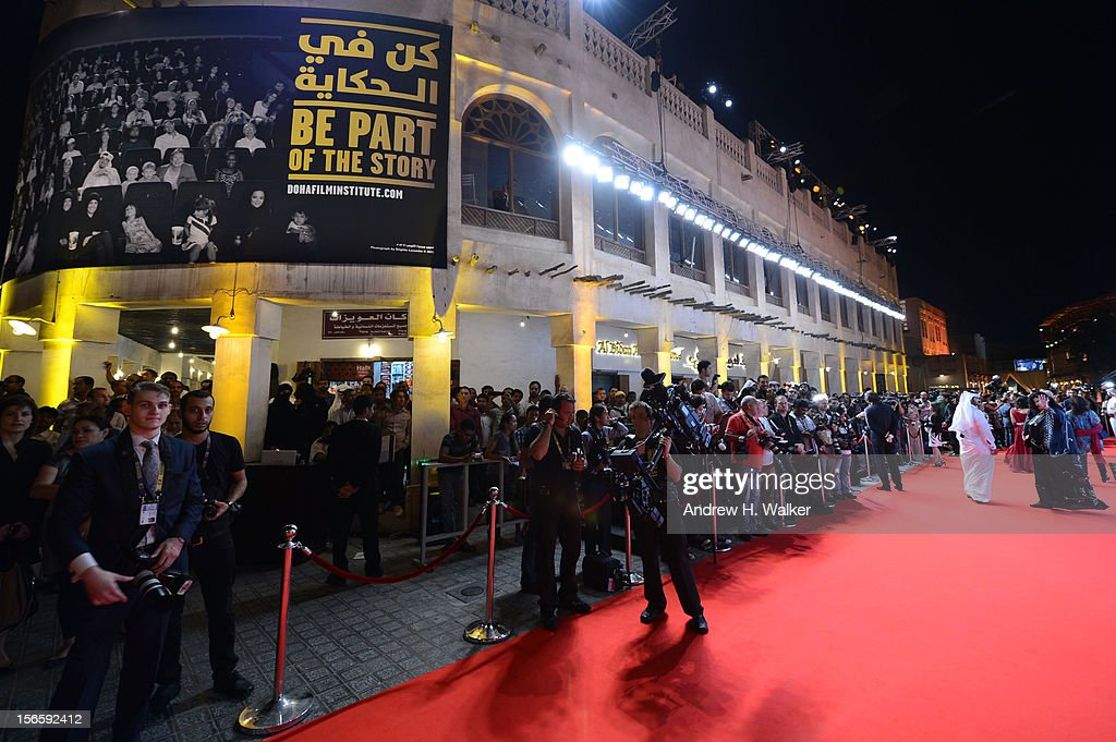 A general view of atmosphere at the opening night ceremony and gala screening of 'The Reluctant Fundamentalist' during the 2012 Doha Tribeca Film Festival at Al Mirqab Hotel on November 17, 2012 in Doha, Qatar.